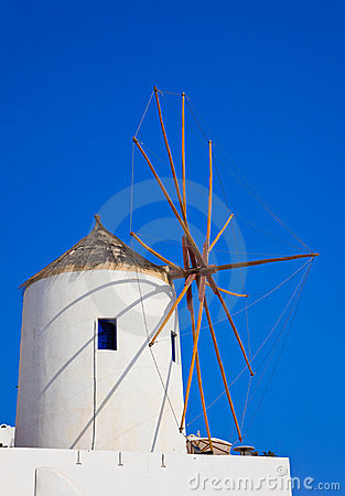 Santorini windmill, Oia, Greece