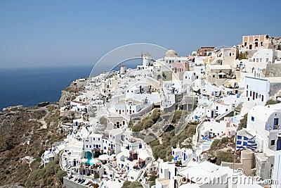 Santoriniimponerande föreställning