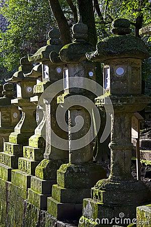 Santuario Di Pietra Nara Giappone Di Kasuga Taisha Delle Lanterne Immagine St...