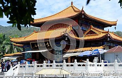 Sanya, China: Nanshan Temple Editorial Photography