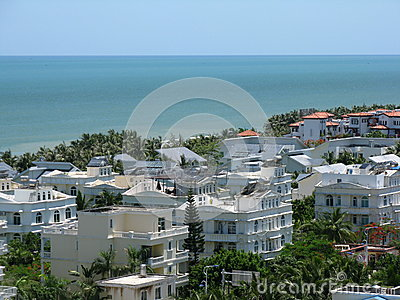 Sanya city on Hainan island