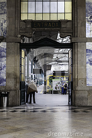 Sao bento railtrain station Editorial Image