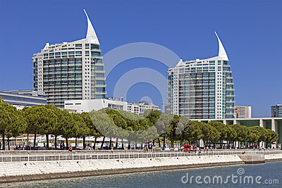 Sao Gabriel and Sao Rafael Towers - Lisbon Editorial Image