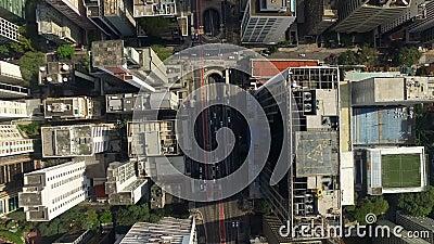 Sao Paulo, SP, Brazilië, Augustus, 2017 Luchtmening van het Gemeentelijke Stadion van Pacaembu, genoemd Paulo Machado de Carvalho stock footage