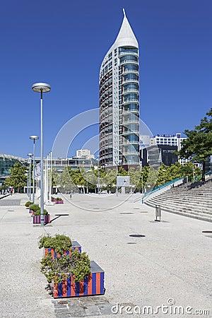 Sao Rafael Tower - Parque das Nacoes - Lisbon Editorial Stock Image