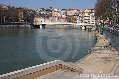 Saone river banks
