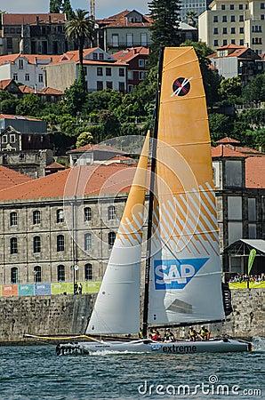 SAP Extreme Sailing Team compete Editorial Stock Photo