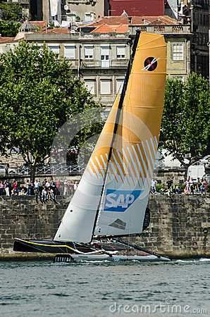 SAP Extreme Sailing Team compete Editorial Image