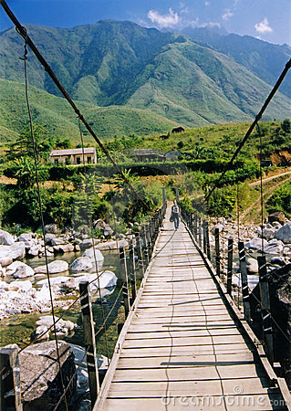 Free Sapa Bridge Mountains Northern Vietnam Stock Photography - 845182