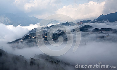 Sapa in the mist