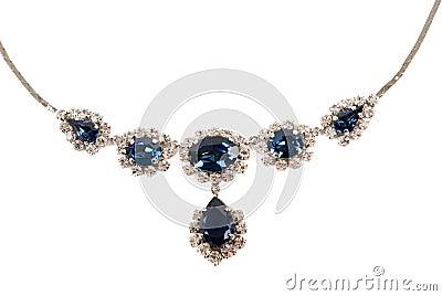 Saphir-Halskette