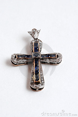 Sapphire and Diamond Cross