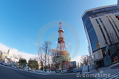 Sapporo TV Tower Editorial Stock Image