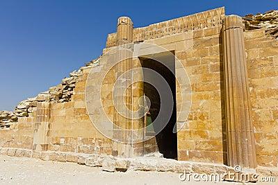 Saqqara house entrance