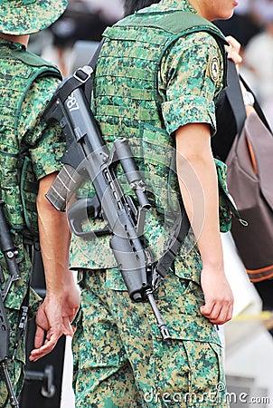 Sar 21 Assault Rifle Editorial Photo
