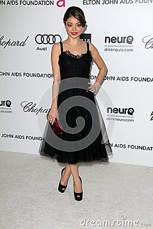 Sarah Hyland, Elton John Editorial Photo