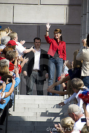 Sarah Palin Arrives Editorial Photo