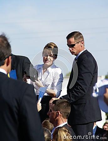 Sarah Palin Richmond Va 10/13/08 Editorial Photo