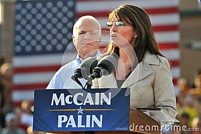 Sarah Palin Speaking Editorial Stock Image