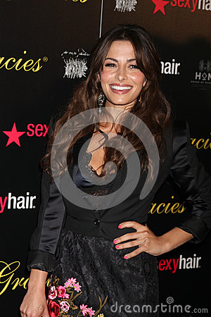 Sarah Shahi arrives at the 37th Annual Gracie Awards Gala Editorial Stock Photo