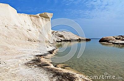 Sarakiniko beach at Milos island