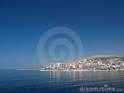 Saranda, Albania from the sea
