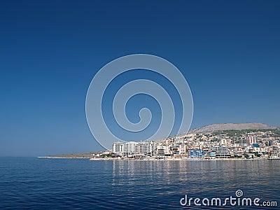 Saranda, Albania from the sea