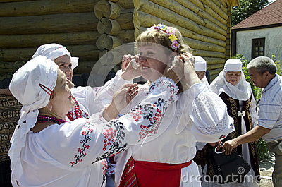 Saratov Grandmother Editorial Photo