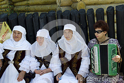 Saratov Grandmother Editorial Stock Image