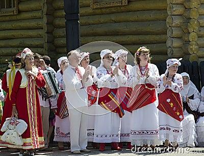 Saratov Grandmother Editorial Stock Image