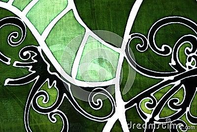Sarawak Batik With An Orang Ulu Motif Design Royalty Free Stock Images