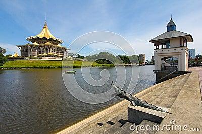 By the Sarawak river in Kuching, Sarawak, Malaysia