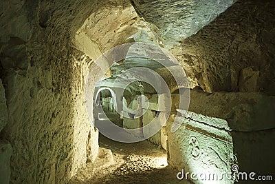 Sarcófago de pedra em Israel