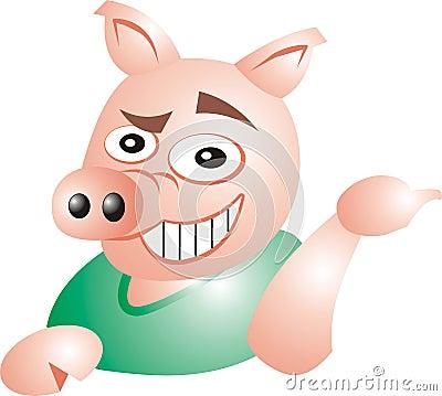 Sarcastic pig
