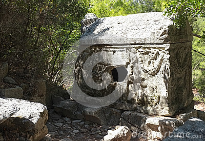 Sarcophagus of Alkestis, Olympos Ruins