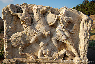 Sarcophagus detail, Ephesus, Turkey