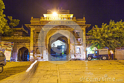 Sardar market at the clocktower by night Editorial Photography