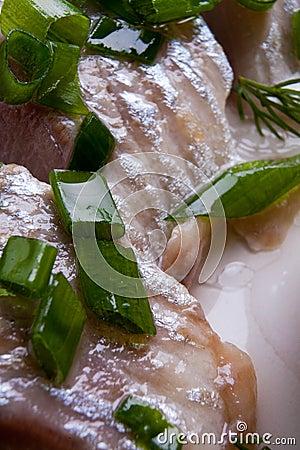 Sardine and spring onions