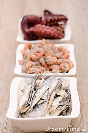 Sardines as appetizer