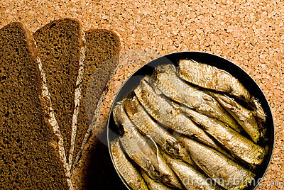 Sardines and bread