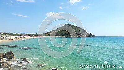Sardinië Italië Cala Monte Turno en San Pietro stranden stock video