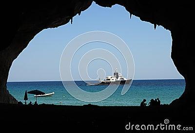 Sardinia błękitny okno