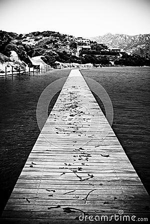 Sardinia. Chia Catwalk