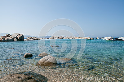 Sardinia, Italy. Crystal water in Mediterranean sea