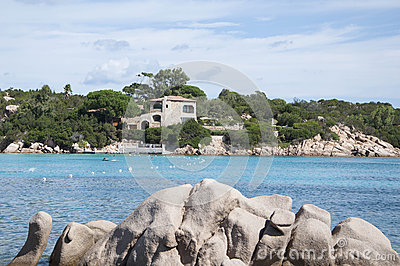 Sardinia landscape capriccioli bay Editorial Photography