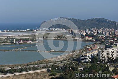 Sardinia.Panoramic view of Cagliari