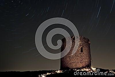 Sardinia:Startrails in Cala Domestica