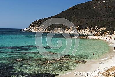 Sardinia. Villasimius. Porto Sa Ruxi Beach