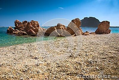 Sardinian beach in Italy