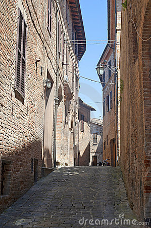 Sarnano (Macerata, Marches, Italy) - Old street